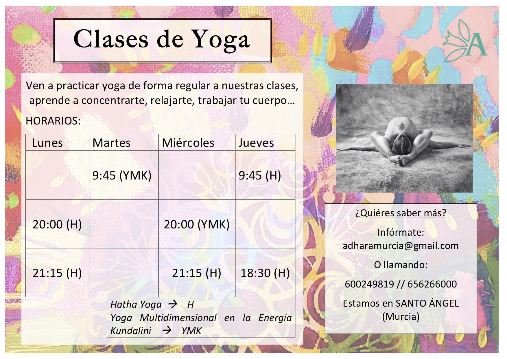 clases yoga 18 19